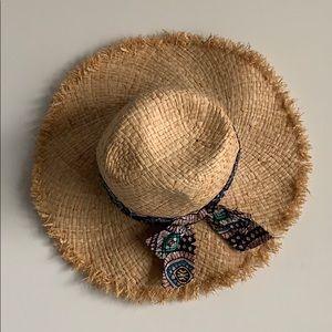 Anthro straw hat